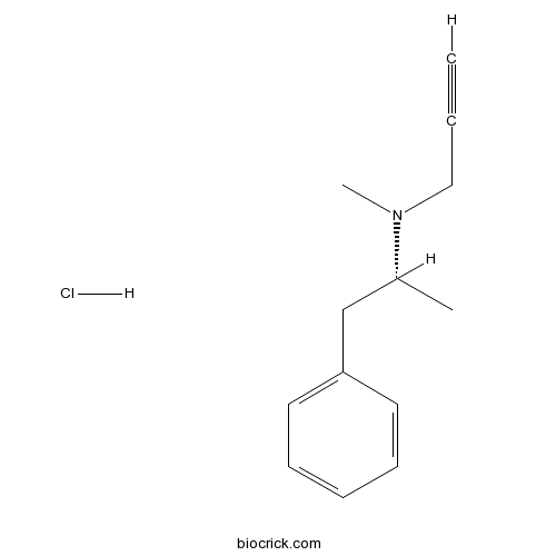 R-(-)-Deprenyl hydrochloride | CAS:14611-52-0 | MAO-B inhibitor For