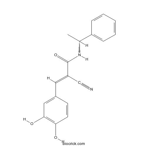 Tyrphostin B44, (-) enantiomer