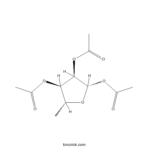 diagram of ribose deoxy 1 2 3 triacetyl 5 deoxy d ribose cas 62211 93 2 for research use  1 2 3 triacetyl 5 deoxy d ribose cas