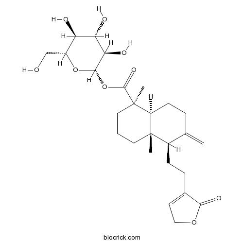 19-[(beta-D-glucopyranosyl)oxy]-19-oxo-ent-labda-8(17),13-dien-16,15-olide