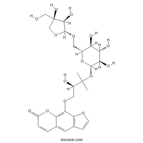 Heraclenol 3'-O-[beta-D-apiofuranosyl-(1-6)-beta-D-glucopyranoside]