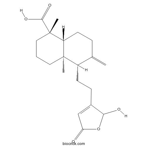 16-Hydroxy-8(17),13-labdadien-15,16-olid-19-oic acid