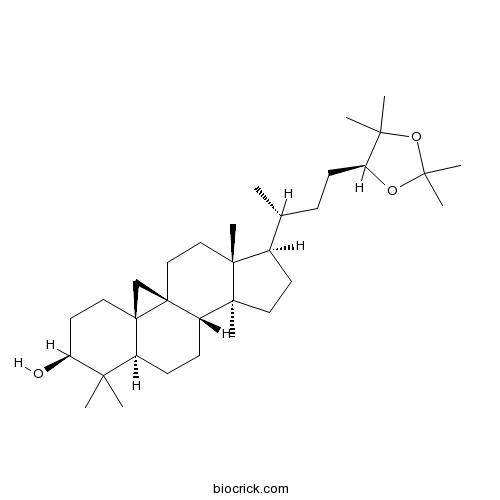 (24S)-Cycloartane-3,24,25-triol 24,25-acetonide