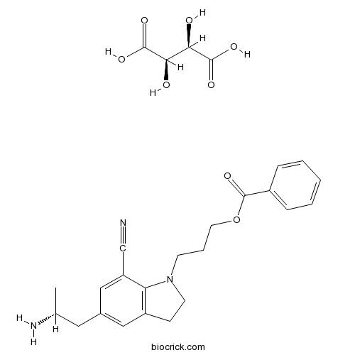 5-[(2R)-2-Aminopropyl]-1-[3-(benzoyloxy)propyl]-2,3-dihydro-1H-indole-7-carbonitrile (2R,3R)-2,3-dihydroxybutanedioate