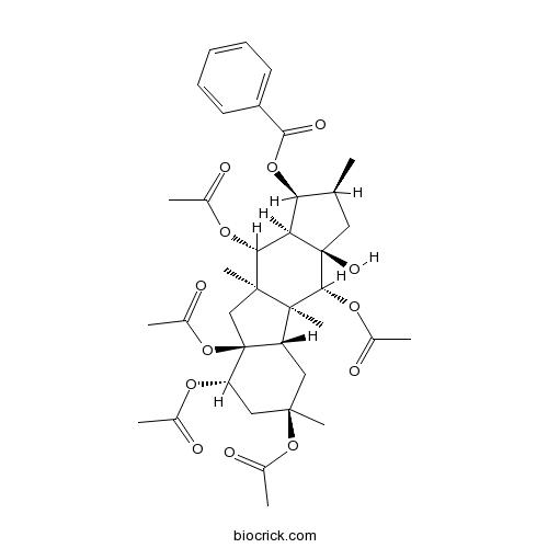 5,8,9,10,14-Pentaacetoxy-3-benzoyloxy-15-hydroxypepluane