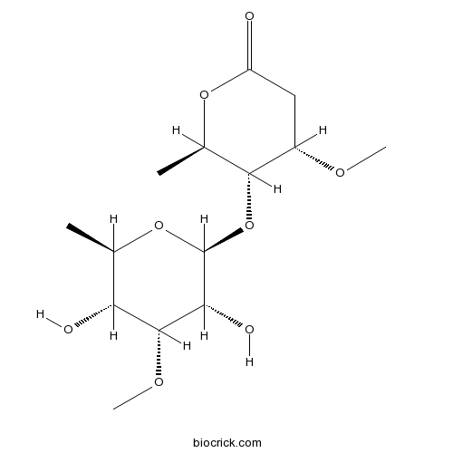 6-Deoxy-3-O-methyl-beta-allopyranosyl(1-4)-beta-cymaronic acid delta-lactone