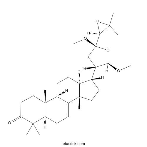21,23:24,25-Diepoxy-21,23-dimethoxytirucall-7-en-3-one