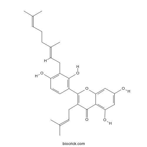 3'-Geranyl-3-prenyl-2',4',5,7-tetrahydroxyflavone